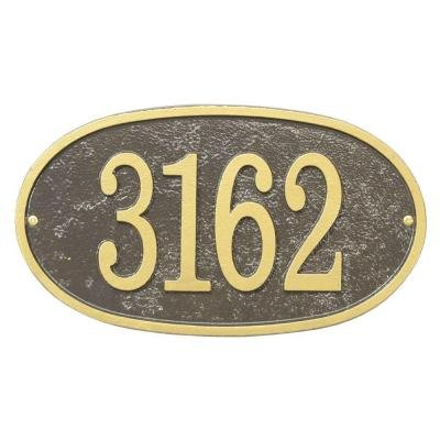 (Whitehall Fast & Easy Oval Numbers Plaque )