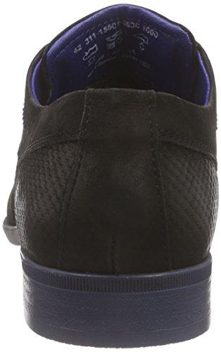 Bugatti 311155013500 - Zapatos Derby Hombre Negro