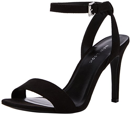 Look New De Con Zapatos black Para Correa Mujer Tacon Rock Tobillo 1 Y Negro gdr0xd