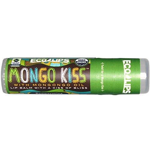 Eco Lips Inc., Mongo Kiss, Lip Balm, Peppermint, .25 oz (7 g)(pack of 3)