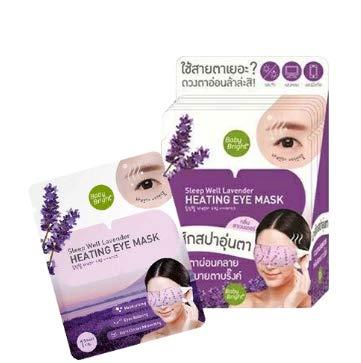 Best seller Sleep Well Lavender Heating Spa Eye Mask Sooth Relax Moisture Panda Eyes x 6 pcs by MLT