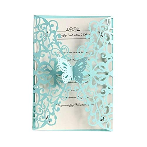 (20PCS Butterfly Laser Cut Wedding Invitations European Style Party Invitations Holiday Greeting Card Cover)