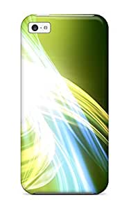LJF phone case High-quality Durable Protection Case For ipod touch 4(abstract Green )