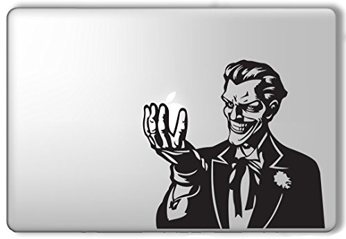 Joker Holding Apple Batman - Apple Macbook Laptop Vinyl Sticker Decal