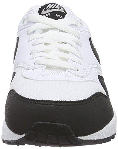 Nike Womens Air Max 1 Essential Running Shoes White/Black/Metallic Silver 5UOLWBqlo