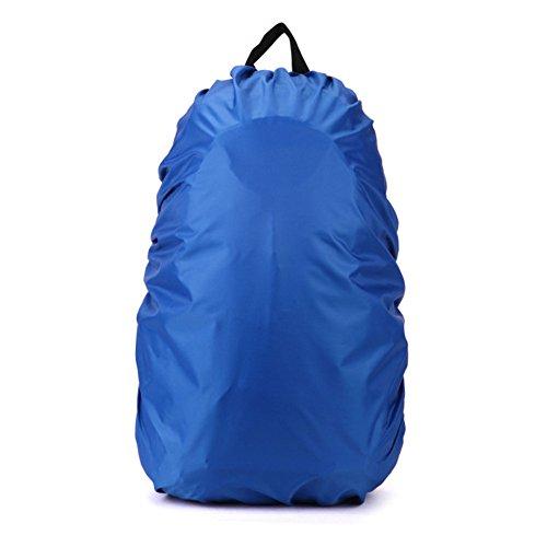 Waterproof Foldable Elastic Backpacks Dust Rain Cover for Traveling Camping Hiking Rucksack Bags (Blue, 35L) Review
