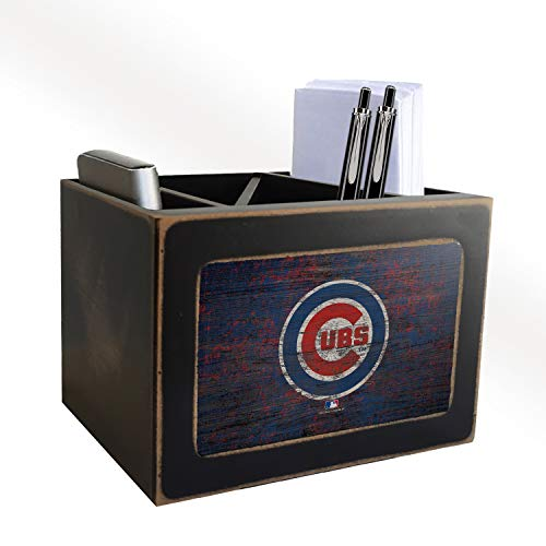 (Fan Creations MLB Chicago Cubs Distressed Team Logo Desktop Organizer with Color)