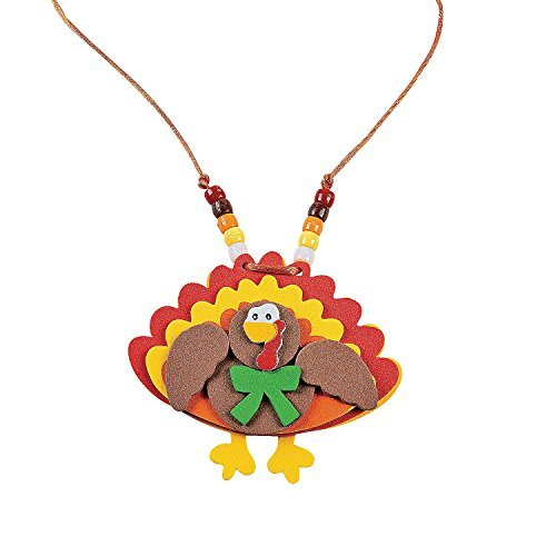 (Beaded Turkey Necklace Craft Kit - Crafts for Kids & Jewelry Crafts)