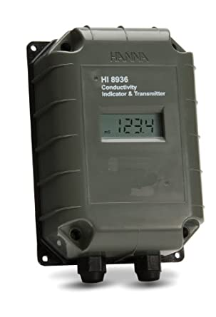Hanna Instruments HI 8936CLN Conductivity Transmitter with LCD, 0 to 1,999 microsiemens/cm, 1 microsiemens/cm Resolution