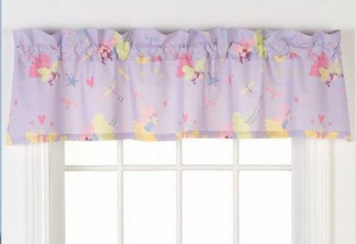 Tale & Dragonfly Window Valance Lavendar Curtain Topper ()