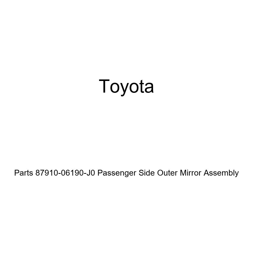 Genuine Toyota Parts 87910-06190-J0 Passenger Side Outer Mirror Assembly