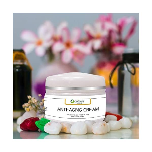 Owlpure 100% Natural, Organic & Handmade,Anti-Aging Cream for Face, Skin & Wrinkle dark spots Reduction Day And Night… 2021 July