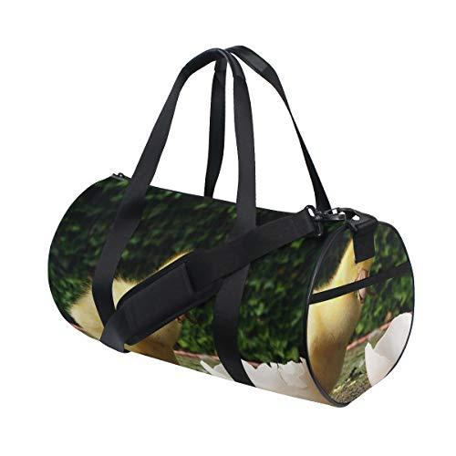 OuLian Duffel Bag Broken Shell Ducks Women Garment Gym Tote Bag Best Sports Bag for Boys