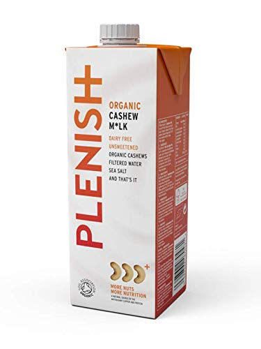 Plenish Organic 6% Cashew Milk 1Litre (Pack of 8) by Plenish