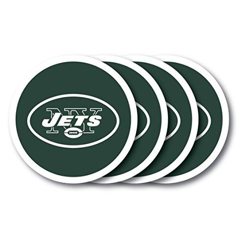 - NFL New York Jets Vinyl Coaster Set (Pack of 4)