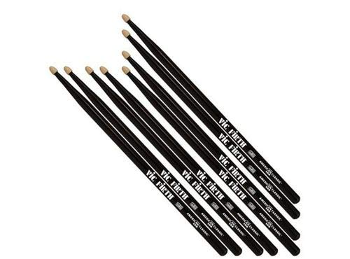 Vic Firth American Classic 5B Black Value Pack – Buy 3PR, Get 1PR FREE! - Drumstick Pack