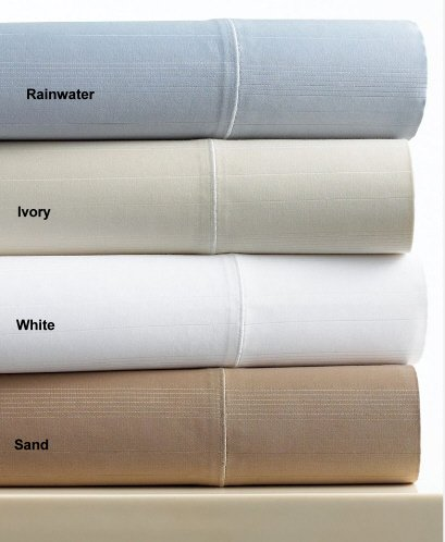 Hotel Collection MicroCotton 700T Ivory Queen Flat Sheet