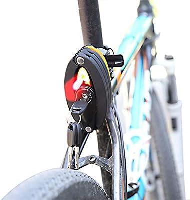 WDY Candado De Bicicleta Plegable con Luz Trasera, Recargable ...