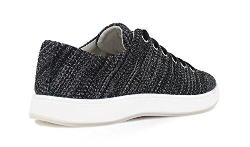 Aureus Womens Lacey Fashion Sneaker Black 2QMMLXu