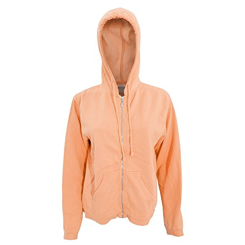 Comfort Colors Womens/Ladies Full Zip Hoodie Jacket (XL) (Neon Red - Jacket Red Twill Cotton Ladies