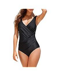 Body de baño para Mujer Cimaybo, Traje de Verano Traje de baño Acolchado Push Up Bikini Sets Traje de baño