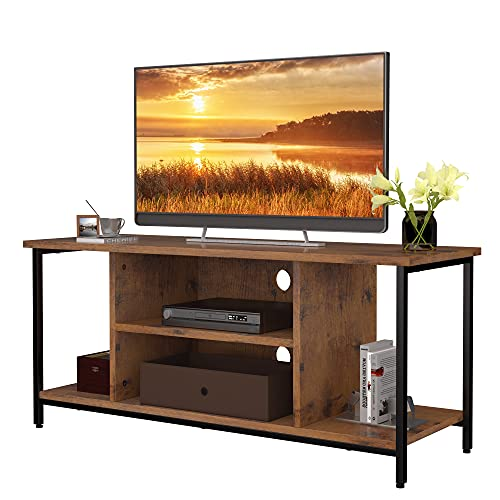 SMAGREHO TV Stand for TVs up to 50 Inches, TV Console Media Cabinet with Storage, TV Cabinet Unit with Shelving, Entertainment Center for Living Room Bedroom, 43 Inch, Rustic Brown