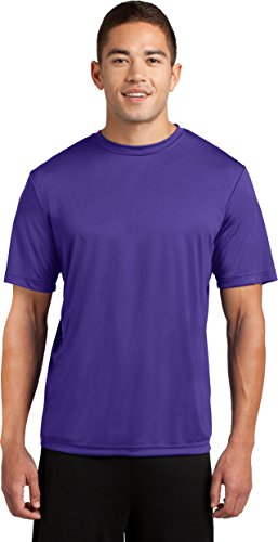 (Dri-Tek Mens Big & Tall Short Sleeve Moisture Wicking Athletic T-Shirt, 3XLT, Purple)