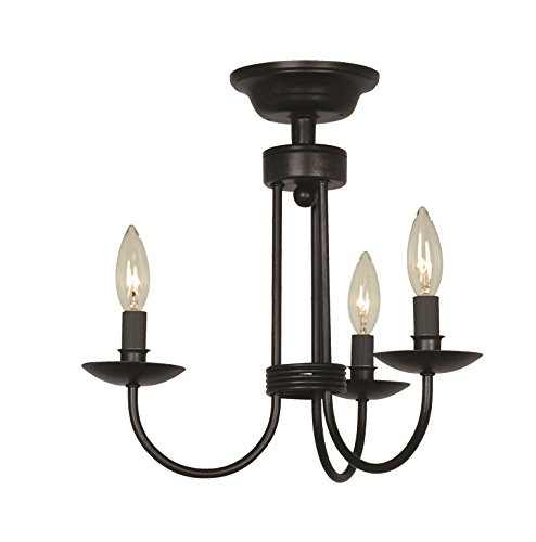 Artcraft Lighting AC1783EB Wrought Iron Wall Sconce In Ebony Black