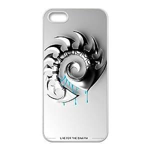 STARCRAFT 8 funda iPhone 5 5s funda del teléfono celular de cubierta blanca, el funda iPhone 5 5s casos funda blanca