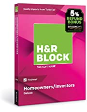 H&R Block Tax Software Deluxe 2018 [Federal Only] with 5% Refund Bonus Offer