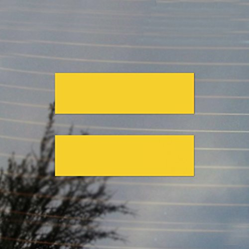 Cosplay & Fan Gear Equality Equal LGBT Sign Pride Vinyl Decal (Sunflower Yellow) (Best Marriage Equality Signs)