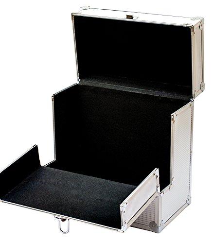Retro Parts - Retro Musique Aluminium LP storage box with unique folding front flap for better access to your LPs