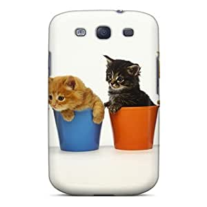 Awesome FKlmIYy669NfkIt Bernardrmop Defender Tpu Hard Case Cover For Galaxy S3- Kittens In Cups