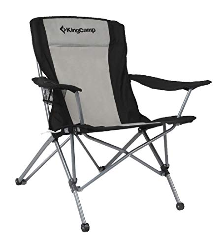KingCamp Heavy Duty Folding Arm Chair with Comfotable Tilted Back ()