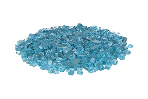 Fire Sense 62364 Bahama Blue Reflective Fire Glass