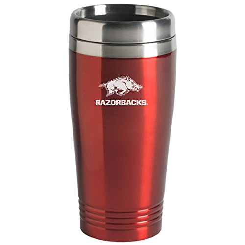 LXG, Inc. University of Arkansas - 16-ounce Travel Mug Tumbler - Red