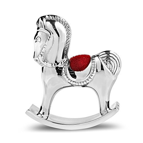AeraVida Royal Rocking Horse .925 Sterling Silver Pin Cushion Keepsake Figurine