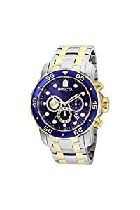 Invicta Pro Diver Blue Dial Chronograph Mens Watch 24849