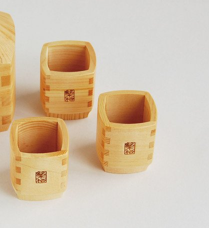 【two cups set!】Yamako Wooden Sake Cups Made in Japan 89245