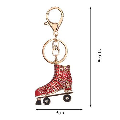 Gusaman - Llavero de aleación con forma de patines de ruedas ...