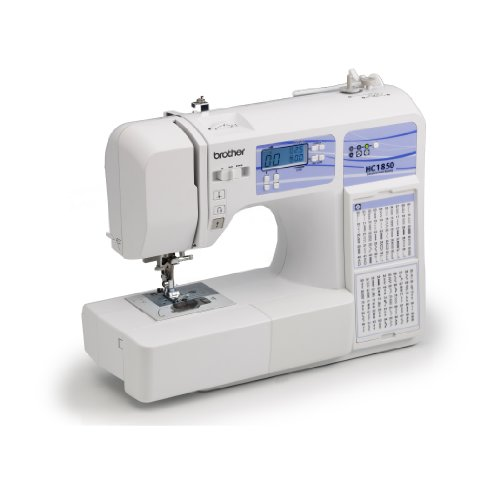 Brother HC1850 Computerized Sewing and Quilting product utilizing 130 assembled in Stitches 8 Presser Feet Sewing Font huge Table and Instructional DVD home Kitchen Features