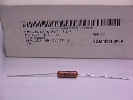 NEW BOX OF 100 VISHAY CMF-65-15-1/% RESISTORS