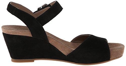 Mephisto Womens Beauty Sandalo Con Zeppa Nero Velcalf Premium