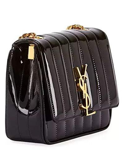 213efe59eaf1 Saint Laurent Vicky Monogram YSL Small Quilted Patent Leather Crossbody Bag  made in Italy  Handbags  Amazon.com