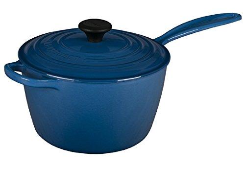 Le Creuset Signature Cast Iron Sauce Pan, 3.25-Quart, Marsei