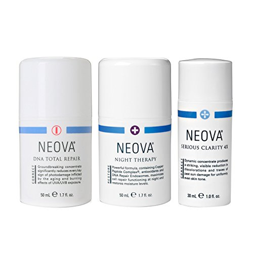 By Neova Eye Therapy (Neova DNA Total Repair 1.7 oz + Neova Serious Clarity 4x 1 oz + Night Therapy 1.7)
