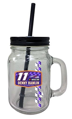 denny-hamlin-11-mason-jar-glass-tumbler