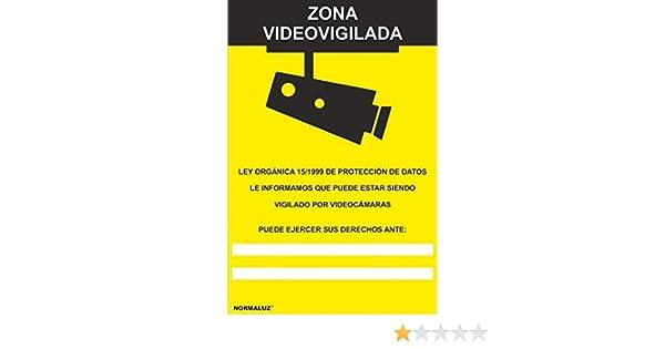 MovilCom® - Adhesivo ZONA VIDEOVIGILADA | CAMARA VIGILANCIA 100x150mm homologado nueva legislación (ref.RD36642): Amazon.es: Industria, empresas y ciencia