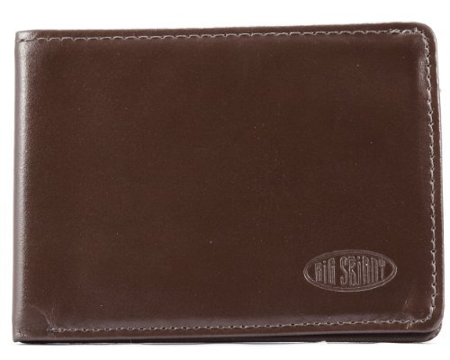 Big Skinny Men's Leather Sport Bi-fold Wallet Brown