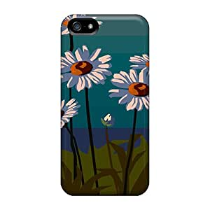 Awesome Case Cover/iphone 5/5s Defender Case Cover(daisies On Green)